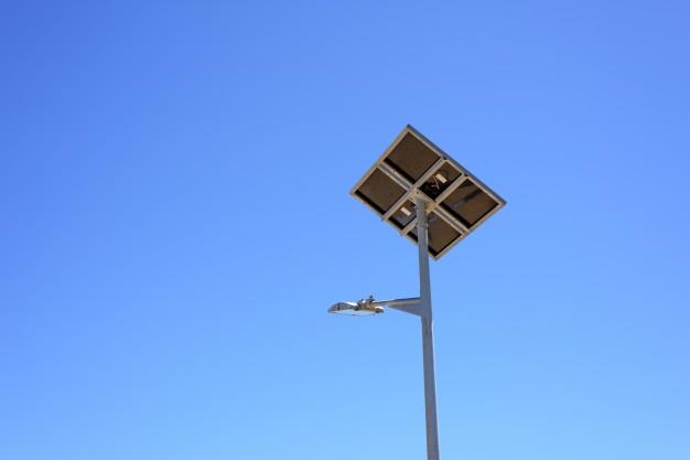 Straatverlichting op zonne-energie